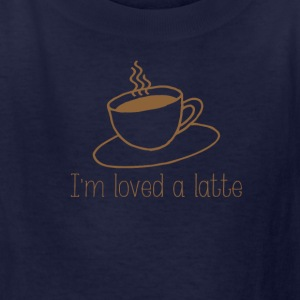 I'm loved a latte - Kids' T-Shirt