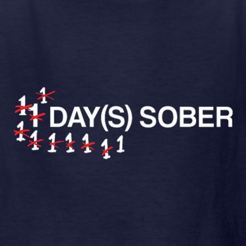 1 Day Sober - Kids' T-Shirt