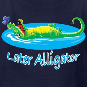 Cute later alligator and butterfly design for kids - Kids' T-Shirt