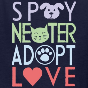 adopt a pet - don't shop - Kids' T-Shirt