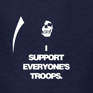 Death supports everyone's troops - Kids' T-Shirt