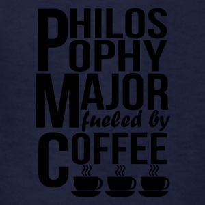 Philosophy Major Fueled By Coffee - Kids' T-Shirt
