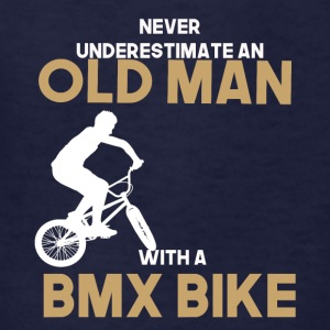 never undererstimate an old man with a bmx bike - Kids' T-Shirt