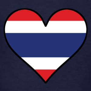 Thai Flag Heart - Kids' T-Shirt