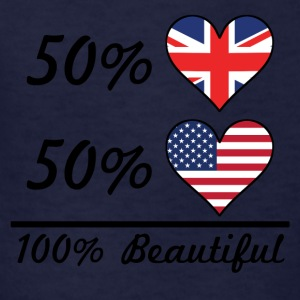 50% British 50% American 100% Beautiful - Kids' T-Shirt