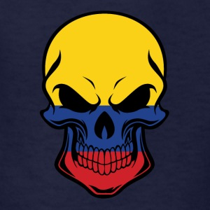 Colombian Flag Skull - Kids' T-Shirt
