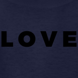 LOVE - Alt. Block Letters Design (Black Letters) - Kids' T-Shirt