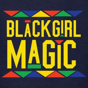 Black Girl Magic - Tribal Design (Yellow Letters) - Kids' T-Shirt