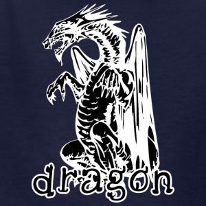 dog_style_sitting_dragon_black - Kids' T-Shirt
