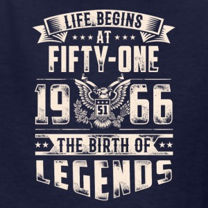 Life Begins at Fifty-One Legends 1966 for 2017 - Kids' T-Shirt