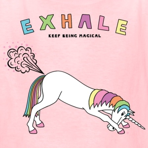 Down Dog Unicorn Exhale Outline - Kids' T-Shirt