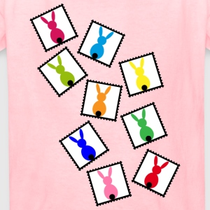 stamps with easter bunnies / easter rabbits - Kids' T-Shirt
