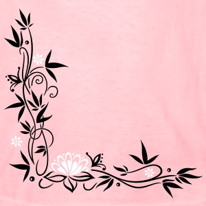 Bamboo with small blossoms and lotus flower. - Kids' T-Shirt