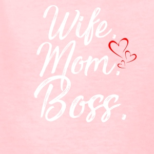 wife mom boss t-shirt - Kids' T-Shirt