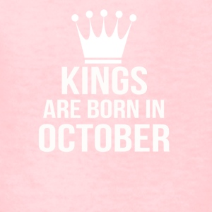 kings are born in october - Kids' T-Shirt