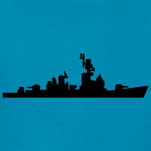 Vector Navy warship Silhouette - Kids' T-Shirt