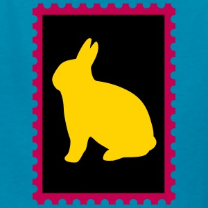 stamp with bunny - Kids' T-Shirt