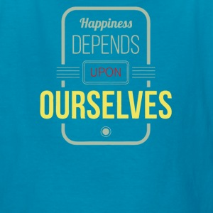 Happiness depends upon ourselves - Kids' T-Shirt