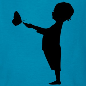 Child with Butterfly - Kids' T-Shirt