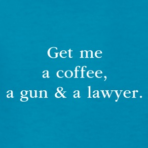 A coffee, a gun & a lawyer - by Fanitsa Petrou - Kids' T-Shirt