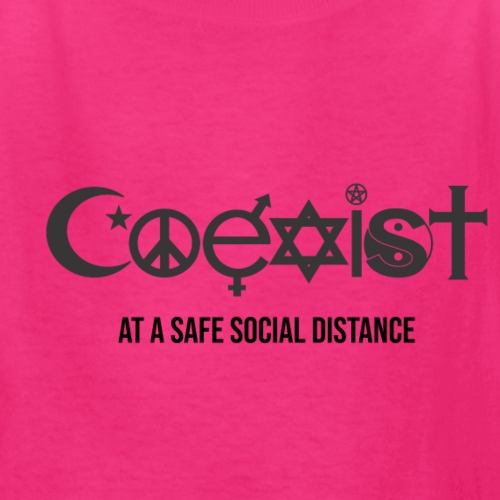 Coexist at a safe social distance - Kids' T-Shirt