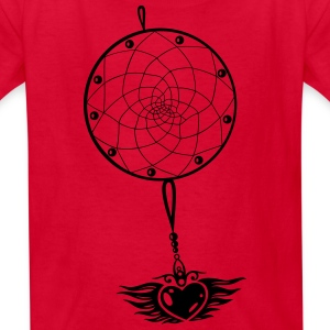 Dreamcatcher with heart and wings. - Kids' T-Shirt