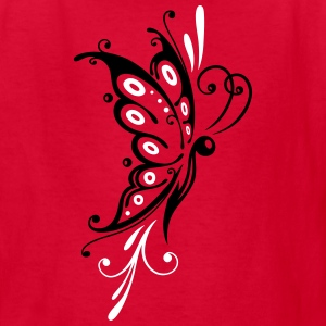 Big filigree butterfly, wings, girlie Tattoo style - Kids' T-Shirt