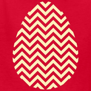 Gold Easter Egg Chevron - Kids' T-Shirt
