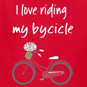 I love riding my bycicle - Kids' T-Shirt