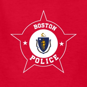 Boston Police T Shirt - Massachusetts flag - Kids' T-Shirt