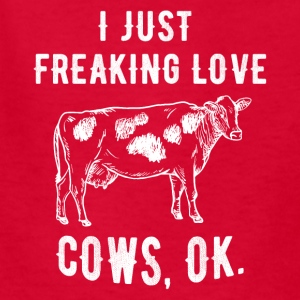 I just freaking love cows - Kids' T-Shirt