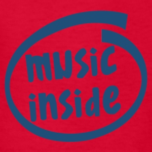music inside (1804C) - Kids' T-Shirt