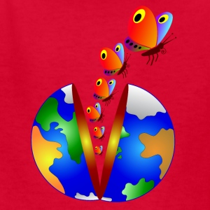 splitting earth and butterflies - Kids' T-Shirt
