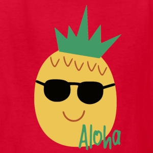 aloha pineapple with sunglasses - Kids' T-Shirt