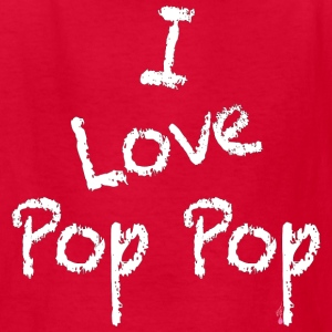 Pop Pop White Print - Kids' T-Shirt