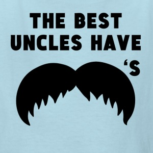 The Best Uncles Have Mustaches - Kids' T-Shirt