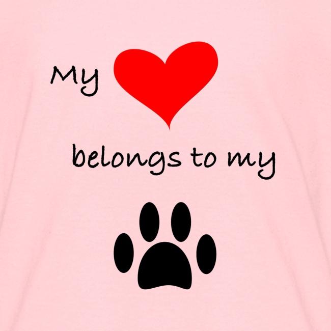 Dog Lovers shirt - My Heart Belongs to my Dog