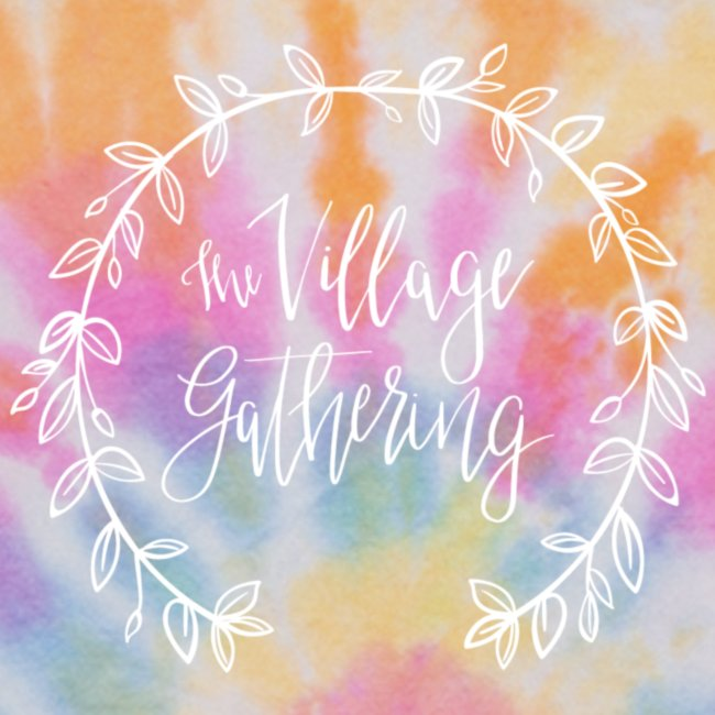 The Village Gathering // White Logo