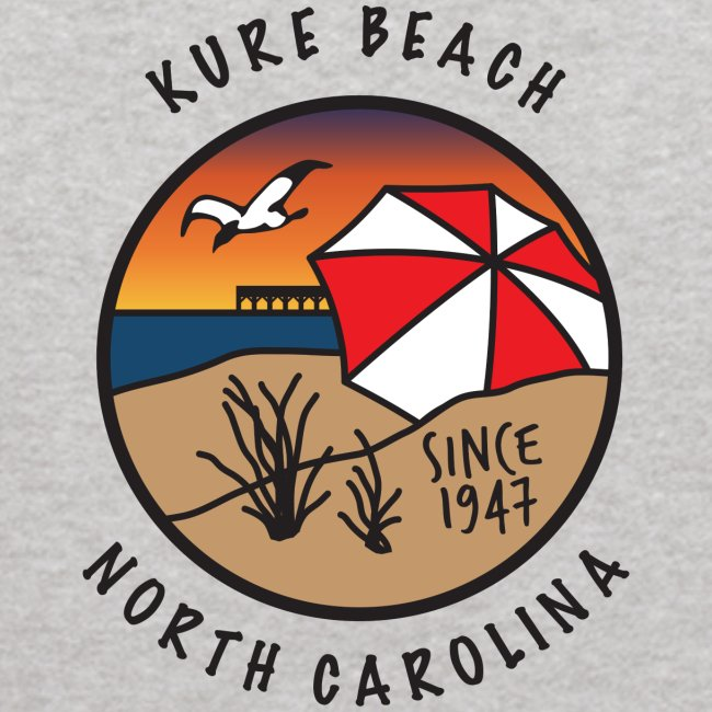 Kure Beach Sunrise-Black Lettering-Front Only