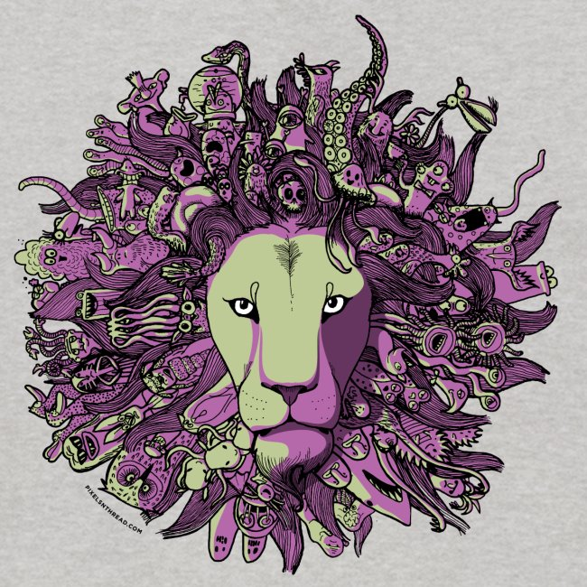 Purple and Green Lion