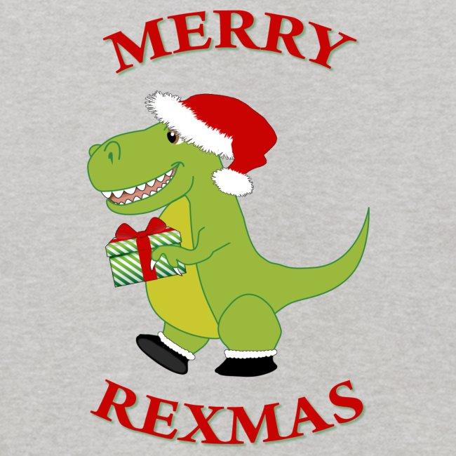 Christmas Dinosaur.Christmas T Rex Dinosaur Kids Hoodie