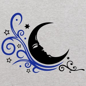 Large moon with Tribal and stars. - Kids' Hoodie