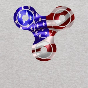 Patriotic Spinner USA Flag 4th of July America - Kids' Hoodie