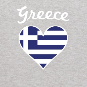 Greece Flag Heart - Kids' Hoodie