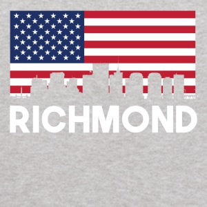 Richmond VA American Flag Skyline - Kids' Hoodie