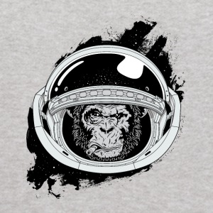 Space monkey Black and white Art - Kids' Hoodie