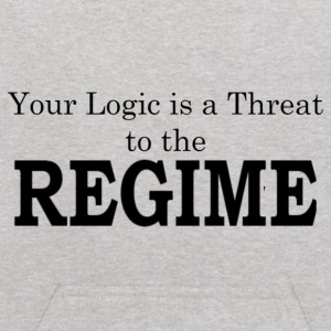Your logic is a threat to the regime - Kids' Hoodie