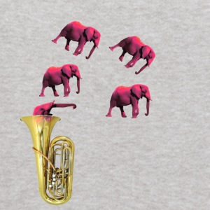 IMG 2652 Tuba Pink Elephants on Parade - Kids' Hoodie