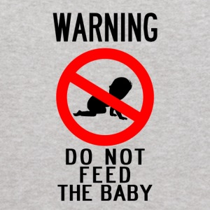 WARNING: DO NOT FEED THE BABY - Kids' Hoodie