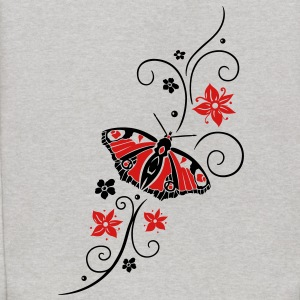 Big colorful butterfly with filigree tribal. - Kids' Hoodie
